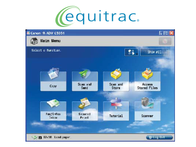 Equitrac is the market leading secure printing and cost recovery solution.